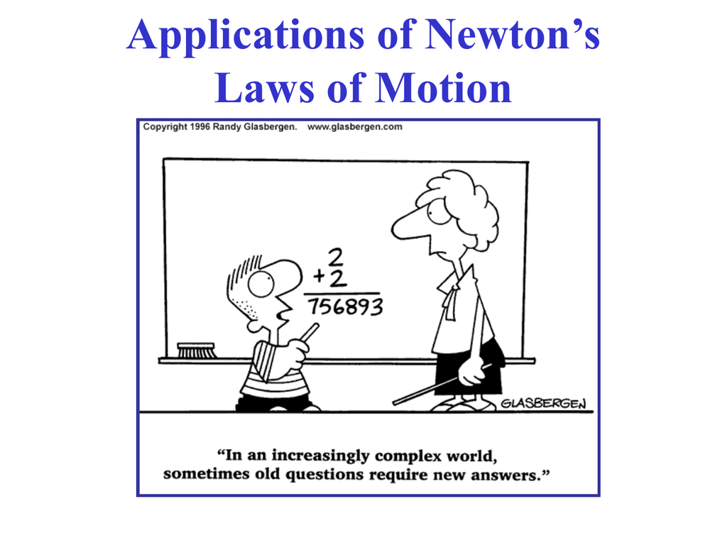 Applications Of Newton S Laws Of Motion