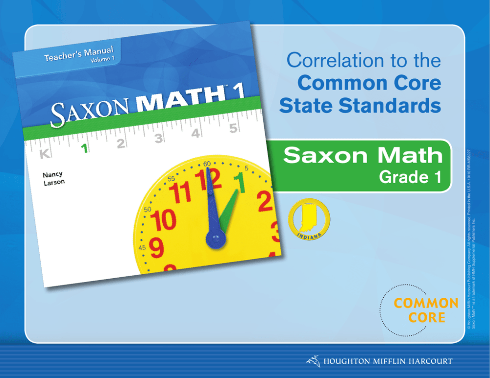 medium resolution of Saxon Math Correlation to the Common Core State Standards