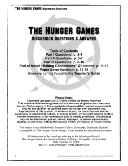 Hunger Games Essay Draft
