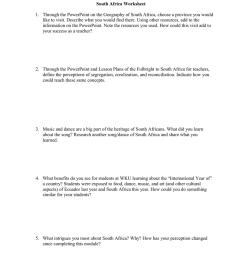 South Africa Worksheet [ 1024 x 791 Pixel ]
