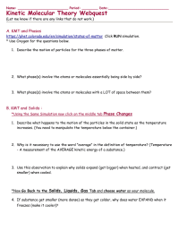 worksheet. Kinetic Molecular Theory Worksheet. Grass Fedjp ...
