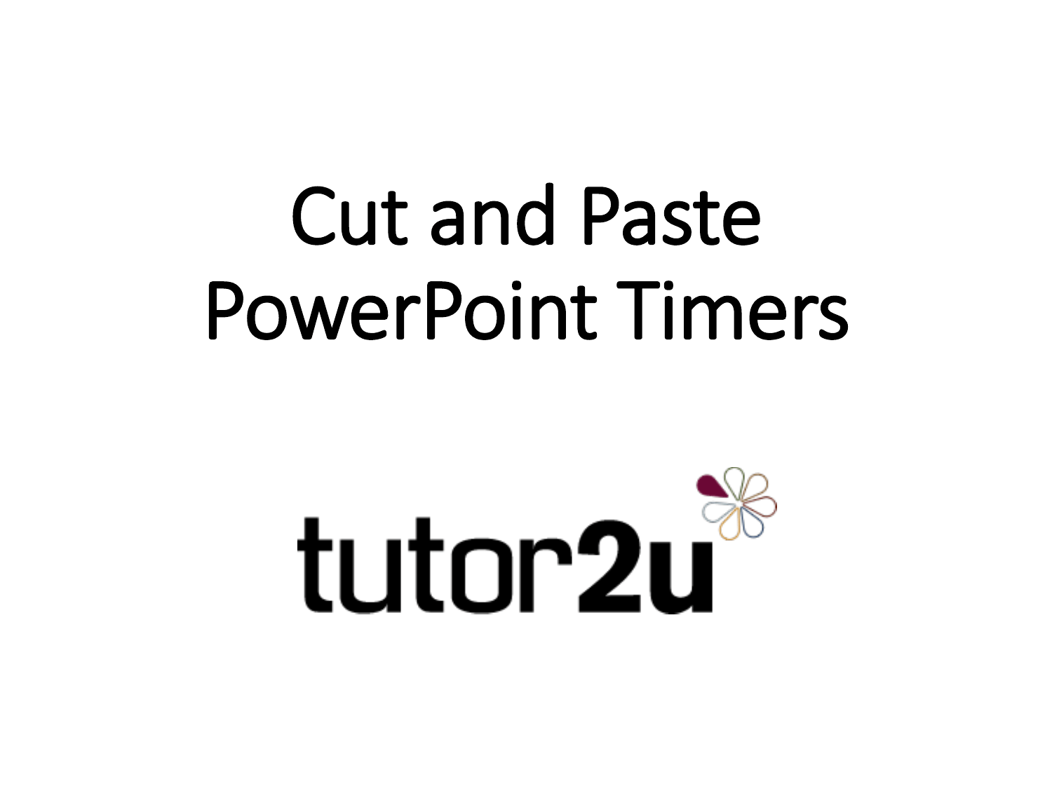 Cut And Paste Powerpoint Timers