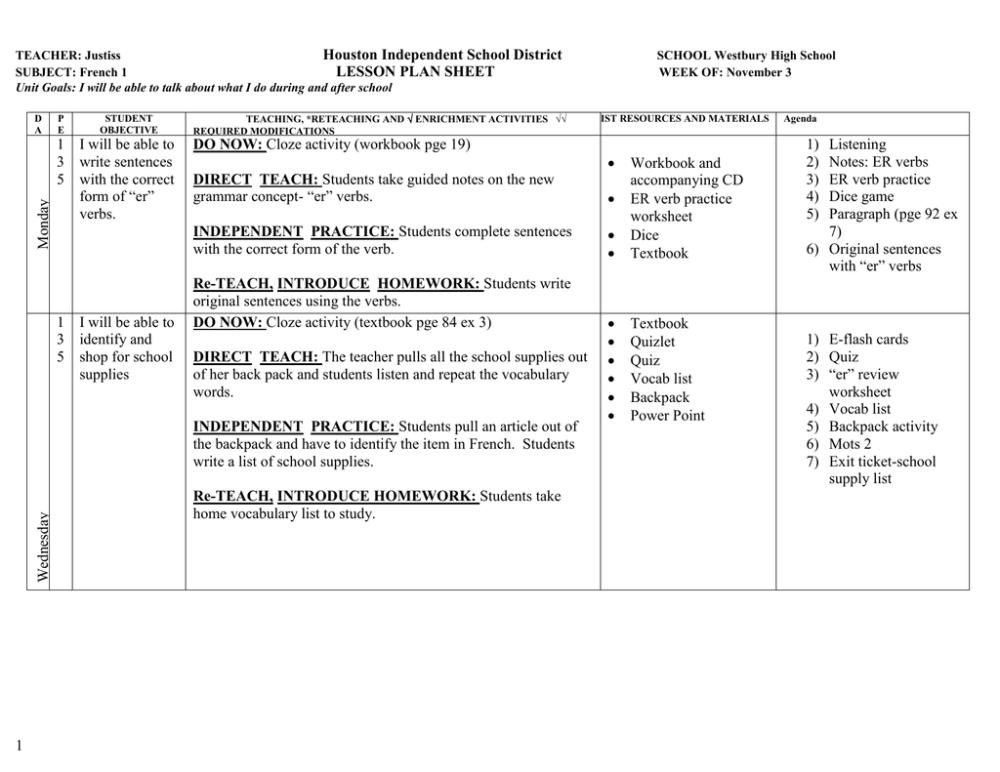 medium resolution of School Verbs List - School Style