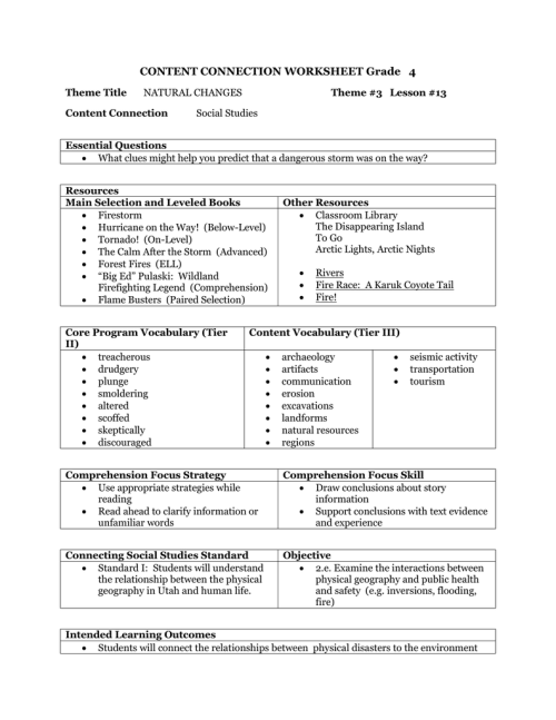 small resolution of CONTENT CONNECTION WORKSHEET Grade 4
