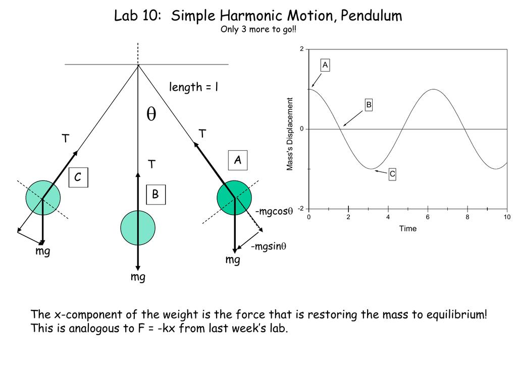 hight resolution of  lab 10 simple harmonic motion pendulum