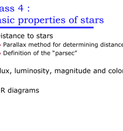 distance to stars parallax method for determining distance definition of the parsec flux luminosity magnitude and color hr diagrams i  [ 1024 x 768 Pixel ]