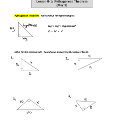 geometry worksheet converse of the pythagorean theorem answers [ 1024 x 791 Pixel ]