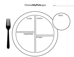 Choose My Plate/Supertracker Directions