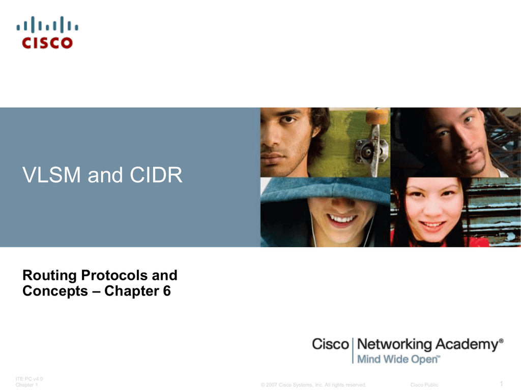 Vlsm And Cidr Routing Protocols And Chapter 6 Concepts