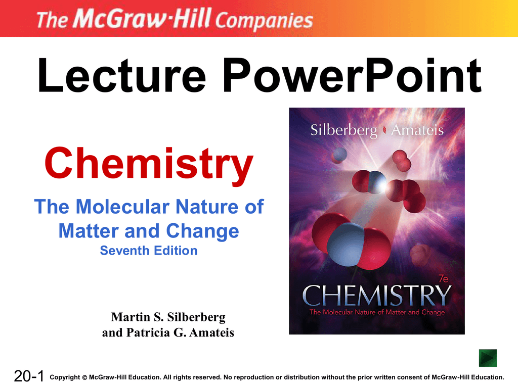 Lecture Powerpoint Chemistry The Molecular Nature Of