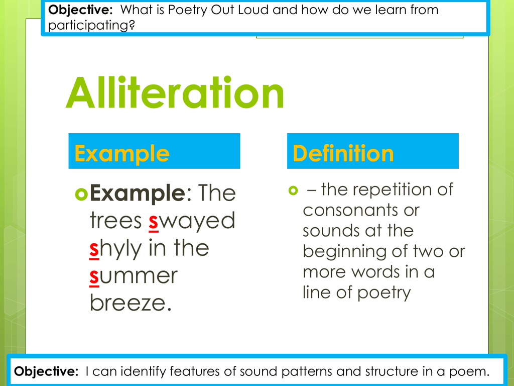 Alliteration Examples For Kids
