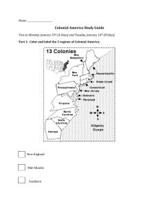 13 Colonies Practice Test