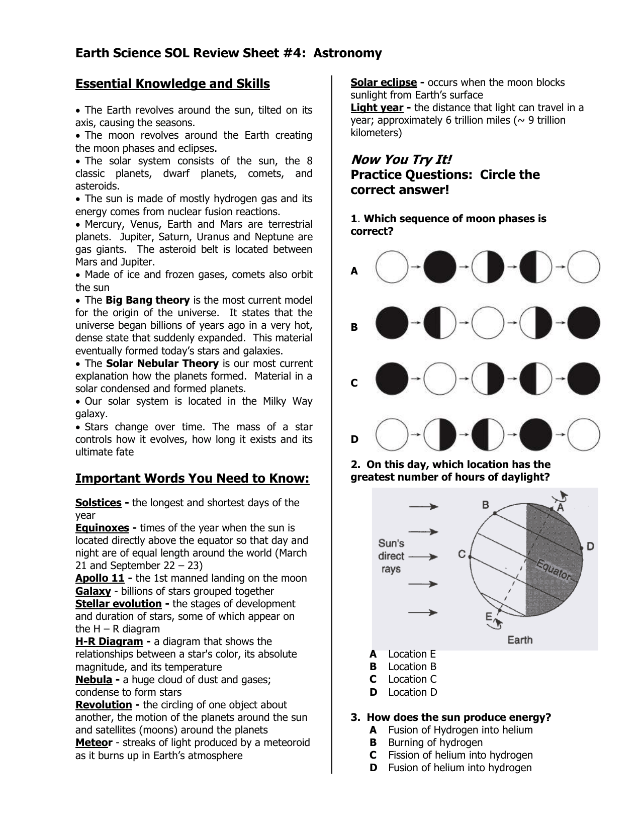 hight resolution of Earth Science If8755 Worksheet   Printable Worksheets and Activities for  Teachers