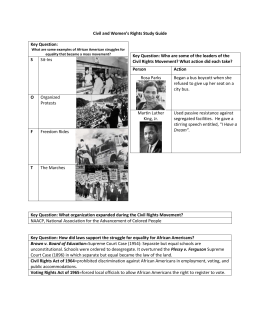 Civil Rights Unit-Outline