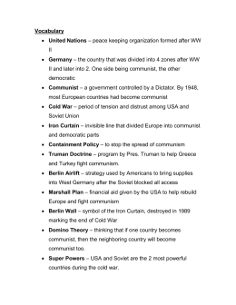 Cold War Test Study Guide