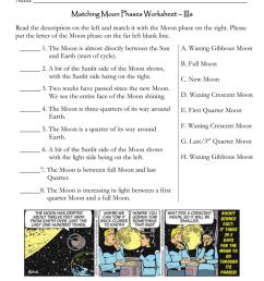 Name Matching Moon Phases Worksheet – IIIa [ 1024 x 791 Pixel ]
