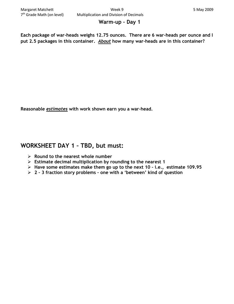 medium resolution of WORKSHEET DAY 1 – TBD