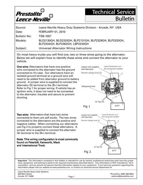 small resolution of leece neville alternator wiring diagram prestolite