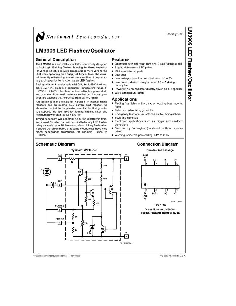medium resolution of lm3909 led flasher oscillatorflashlights finder circuit using lm3909 oscillator 8
