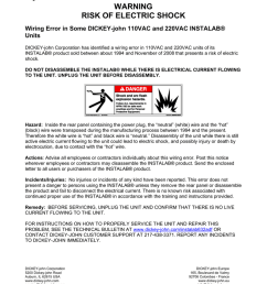 warning risk of electric shock wiring error in some dickey john 110vac and 220vac instalab units dickey john corporation has identified a wiring error in  [ 791 x 1024 Pixel ]