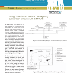 using transferred normal emergency generator circuits with simply5 a simply5 s5js joiner splice can be used to isolate one or more fixtures in a room  [ 791 x 1024 Pixel ]