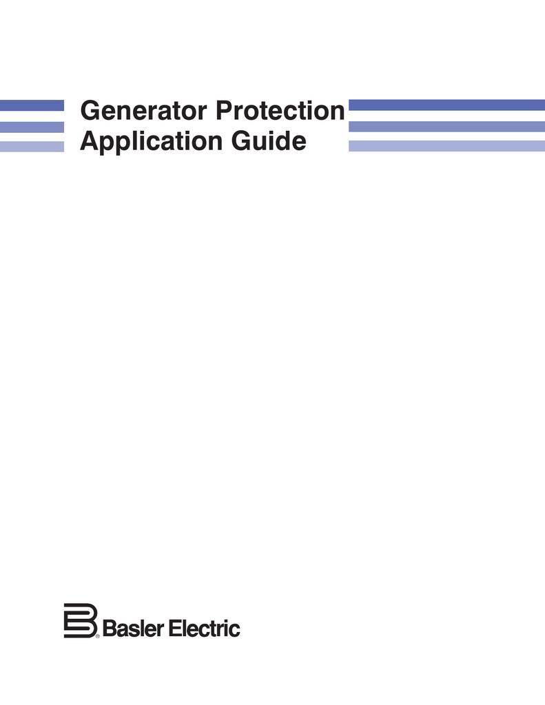 medium resolution of  generator protection application guide on generator radiator diagram generator building diagram dc armature winding generator wiring
