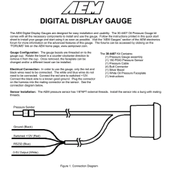 digital display gauge aem oil pressure sensor wiring [ 791 x 1024 Pixel ]