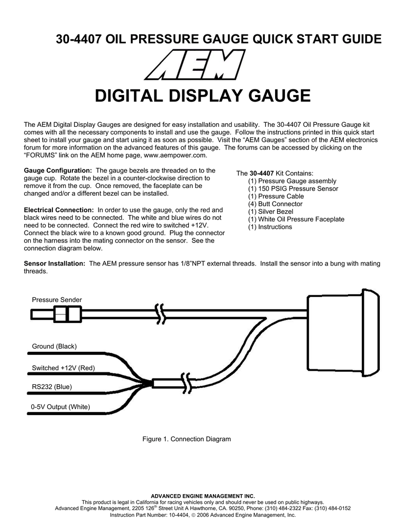 medium resolution of digital display gauge aem oil pressure sensor wiring