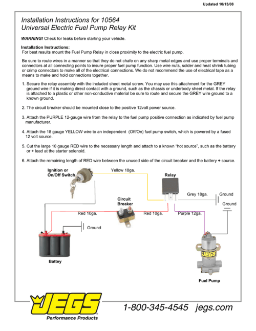 small resolution of jegs 10564 installation instructions wiring diagram 12 volt