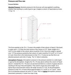 pressure and flow rate pressure definition absolute pressure absolute pressure is the force per unit area applied to anything whether that anything is a  [ 791 x 1024 Pixel ]