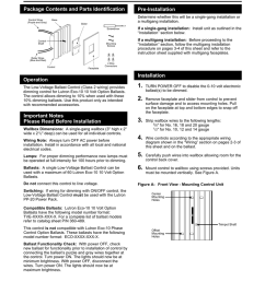 nftv low voltage ballast control installation instructions please leave for occupant for use with lutron eco 10 10 volt option ballasts package contents  [ 791 x 1024 Pixel ]