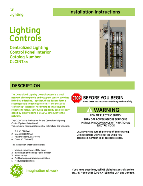 small resolution of lighting control panel system