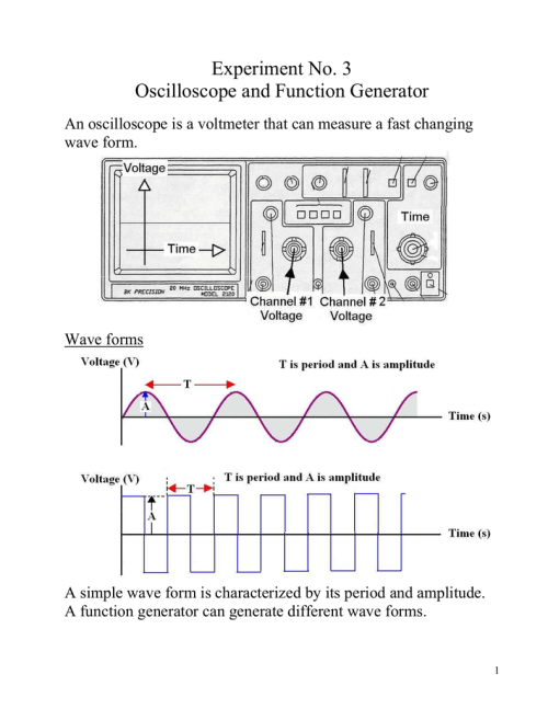 small resolution of 3 oscilloscope and function generator