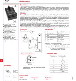 r n we ctio o t tru g s tin ob ligh universal lamp alarm relay fb9l led beacons description preliminary data sheet available 1st quarter 2007 the fb series  [ 789 x 1024 Pixel ]