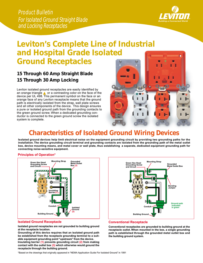 hight resolution of isolated ground receptacle wiring
