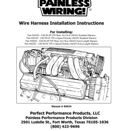 wire harness installation instructions for installing part 60102 gm 86 89 tpi mass air flow maf standard harness part 60103 gm 90 92 tpi w speed  [ 791 x 1024 Pixel ]