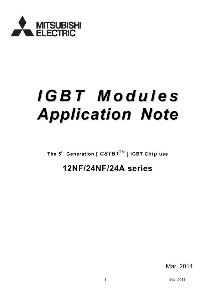 IGBT modules Application note