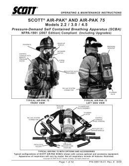 scott air-pak x3 scba bid specification