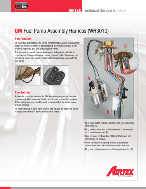 small resolution of gm fuel pump assembly harness wh3010 buick lesabre fuel pump wiring further gm fuel pump harness connector