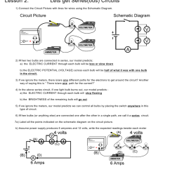 lesson 2 lets get series ous circuits 1 connect the circuit picture with lines for wires using the schem atic diagram circuit picture schematic diagram  [ 791 x 1024 Pixel ]