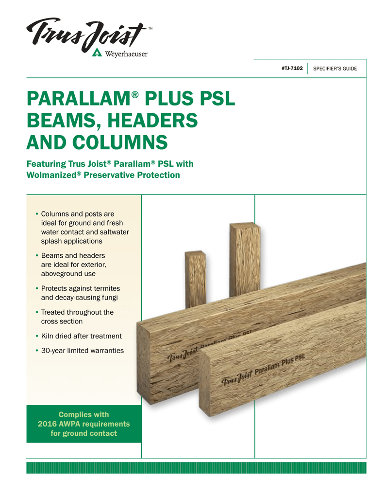 Parallam Beam Weight