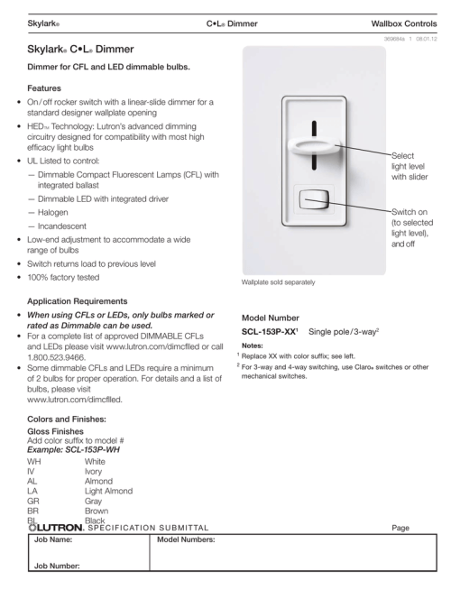 small resolution of  3 way toggle on sony lutron skylark scl 153p wh spec sheet polar on sony wiring diagrams