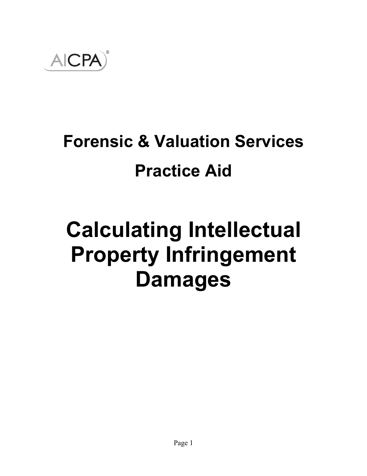 Calculating Intellectual Property Infringement Damages