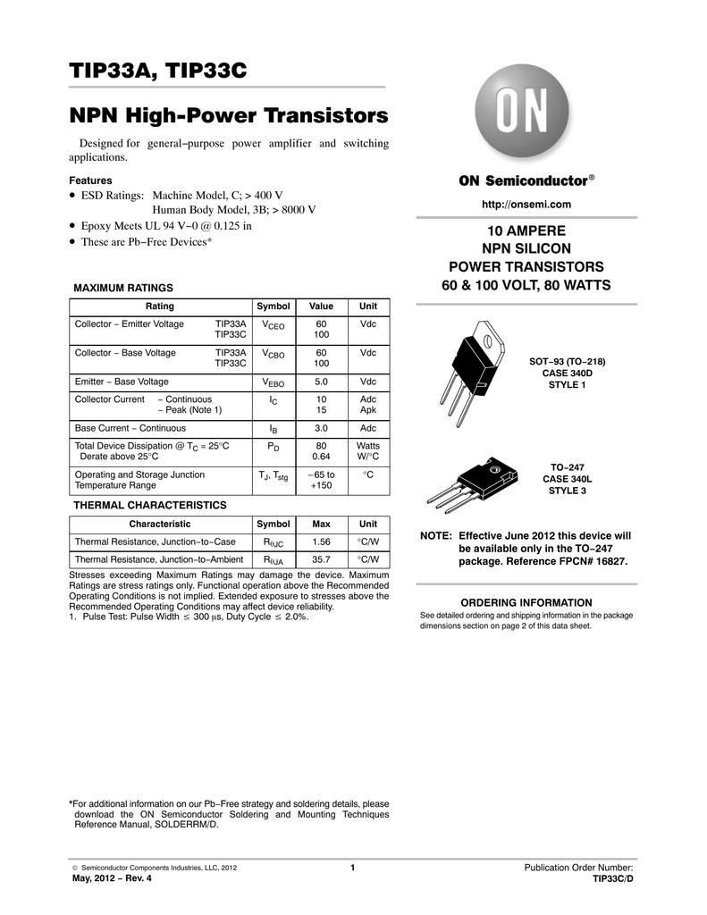 TIP33C PDF