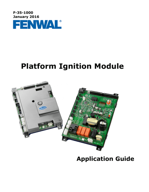 small resolution of f 35 1000 january 2016 platform ignition module application guide table of contents chapter 1 product overview and description 1 1 introduction