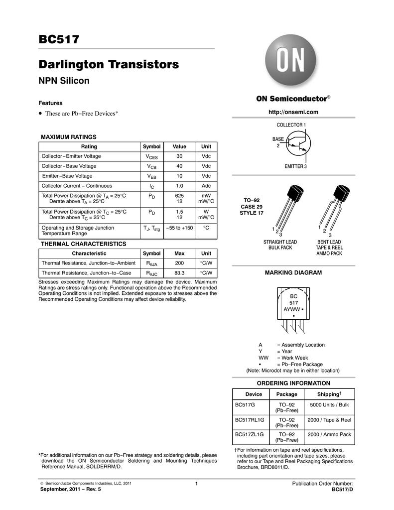 Transistor Darlington Bc517