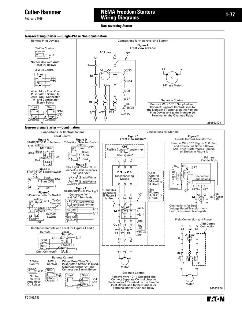 medium resolution of nema 1 motor starter wiring diagram