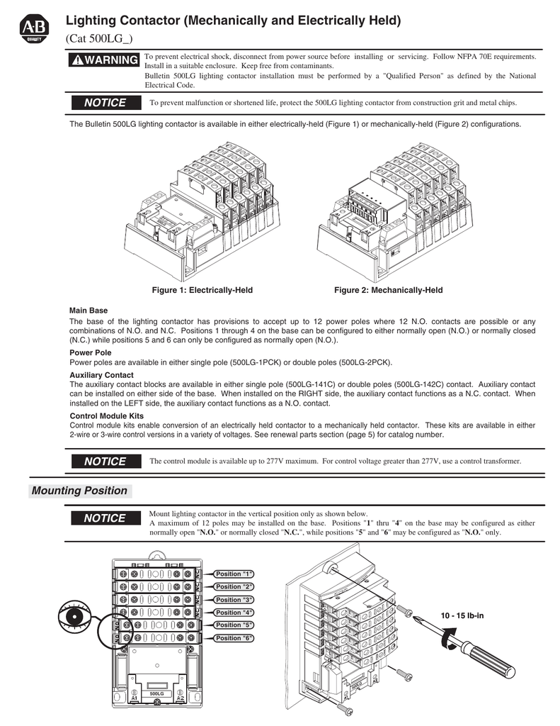 hight resolution of bul 500lg lighting contactor mechanically and electrically held electrically held contactor wiring diagram