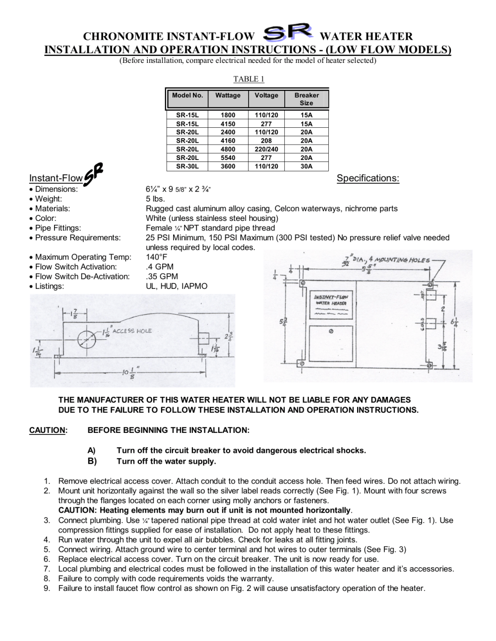 medium resolution of electric water heater wiring requirement