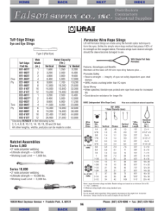Tuff edge slings ratchet assemblies permaloc wire rope also online catalog west coast rh studylib